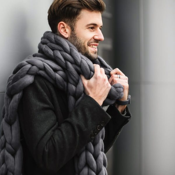 Bubblegum scarf in Graphite Color for Men by Ohhio