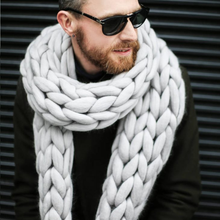 Bubblegum scarf in Moon Dust Color for Men by Ohhio