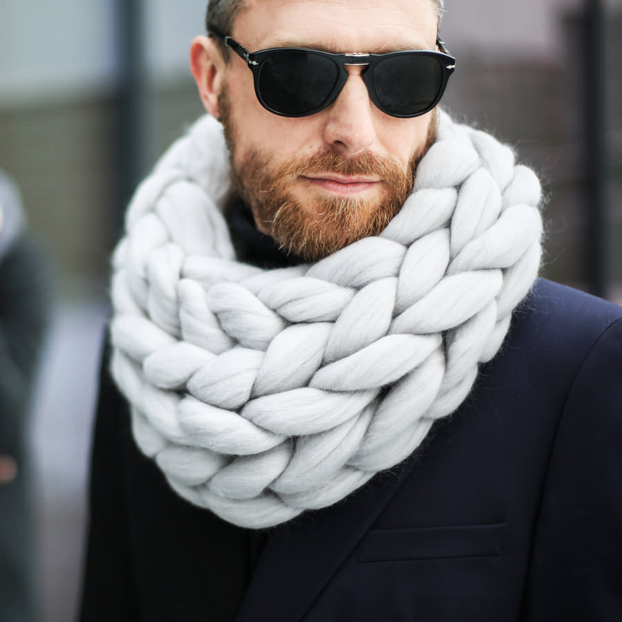 Macaron Cowl in Moon Dust Color for Men