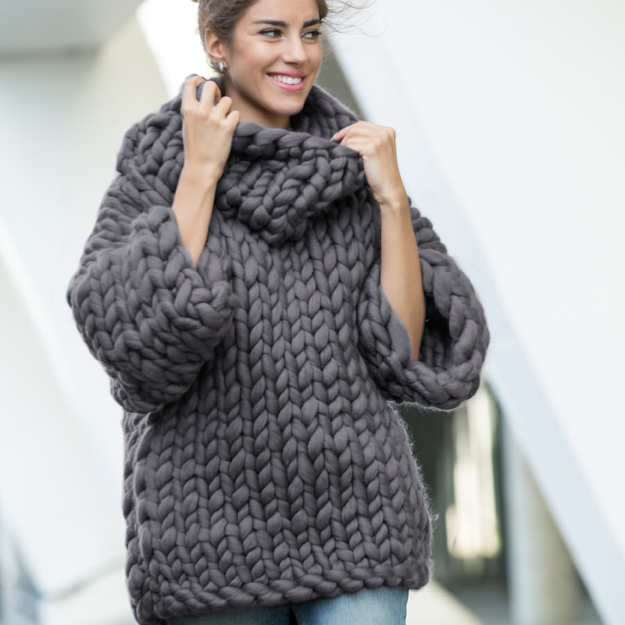 Marshmallow chunky Sweater by Ohhio