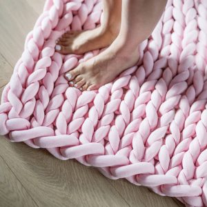 Ohhio braid blanket large pink