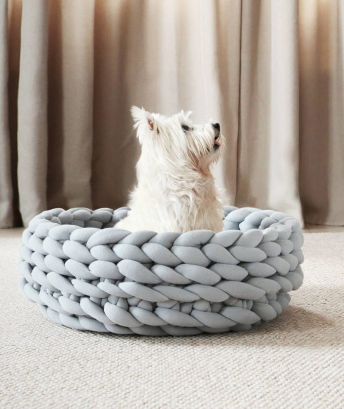 Ohhio Braid Dog Bed DIY Kit Grey