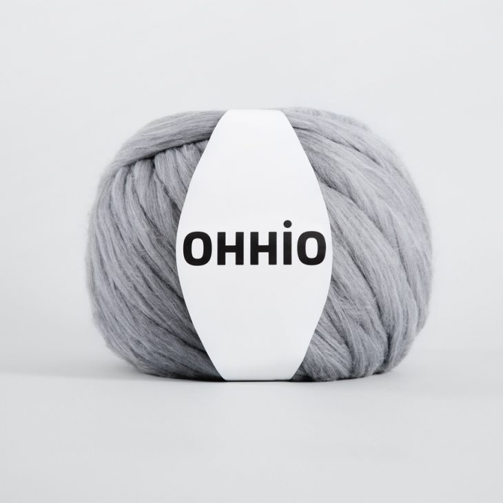 Ohhio Arm Knitting Merino Wool Gray Melange