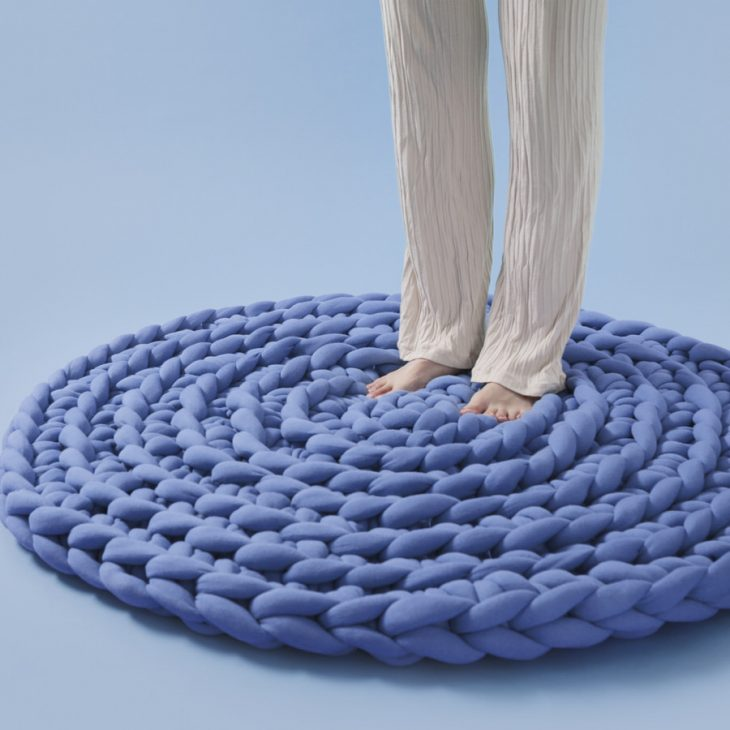 Ohhio Braid Rug Blue Large
