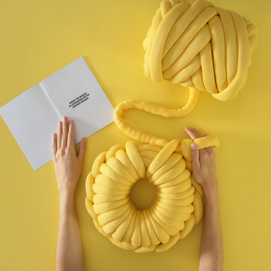 Ohhio Braid DIY O-Cushion - Yellow
