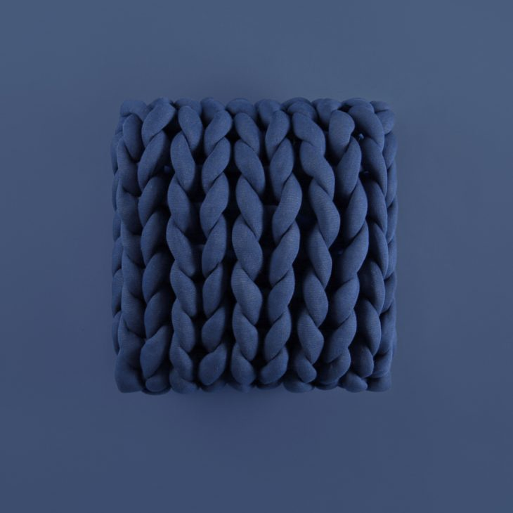 Square Ohhio Braid Cushion Denim