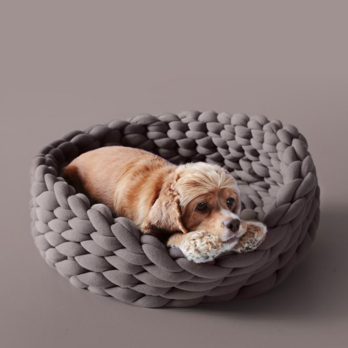 Ohhio Braid Dog Bed Cacao
