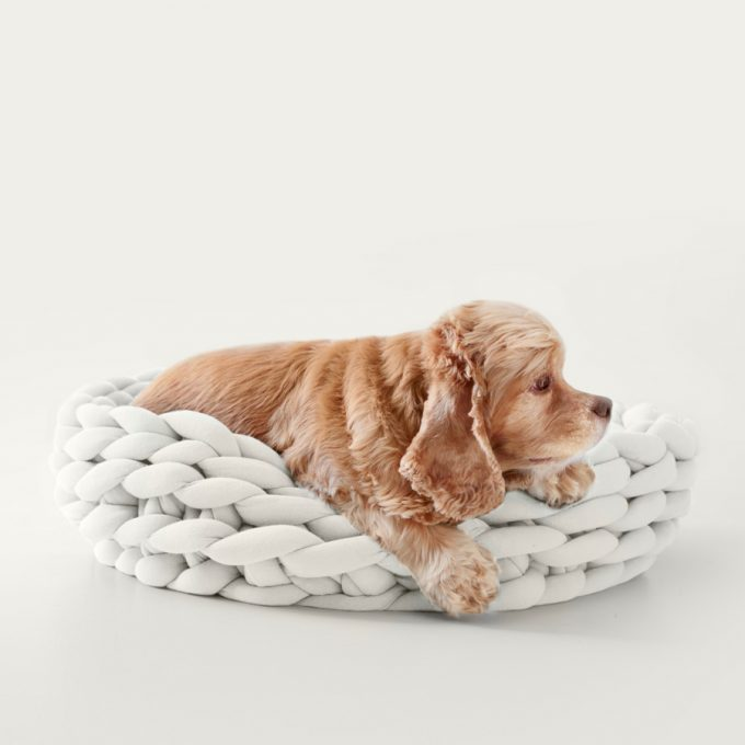 Ohhio Braid Dog Bed Star White