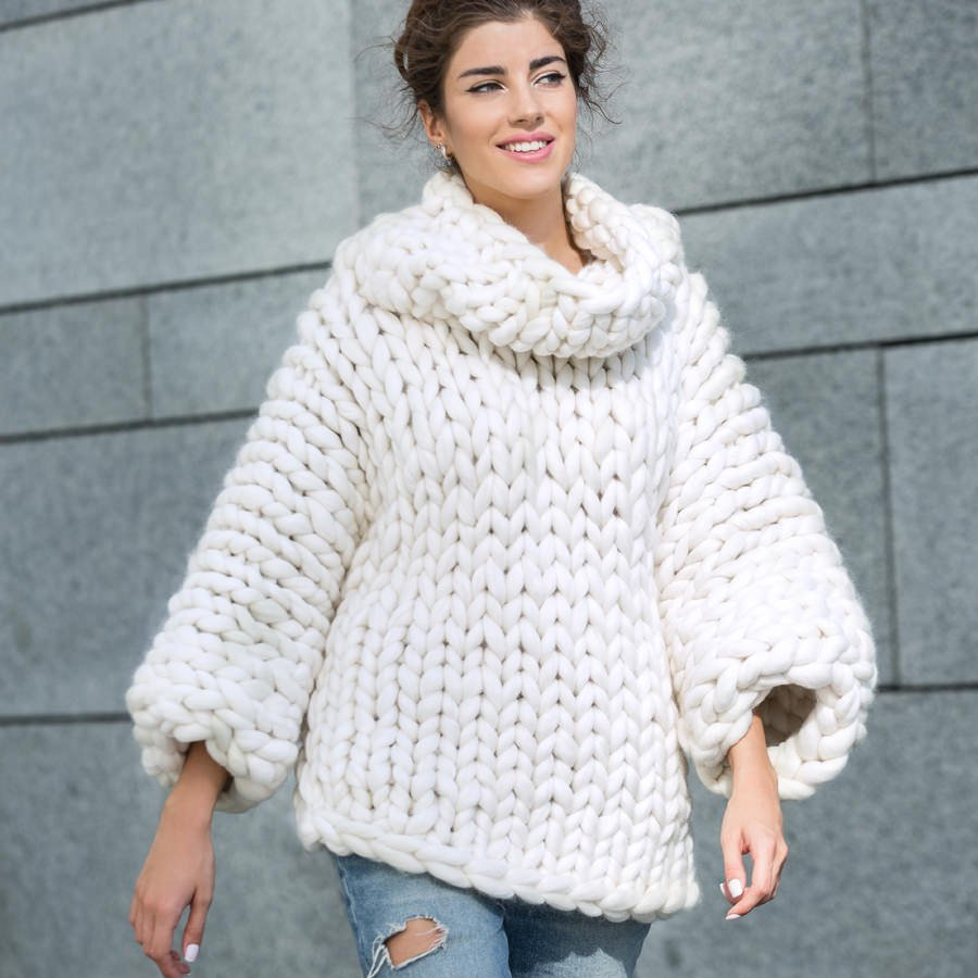 Marshmallow Sweater DIY Instructions White